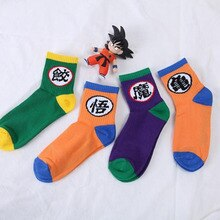 1 paire nouveau Anime Dragon Ball Z été chaussettes unisexe coton Son Goku/Majin Buu chaussettes Super Saiyan chaussettes Cosplay cadeau jouets en peluche
