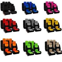 Автомобильные чехлы для сидений, полный комплект автомобильных защитных чехлов, универсальные аксессуары-St для Renault Logan