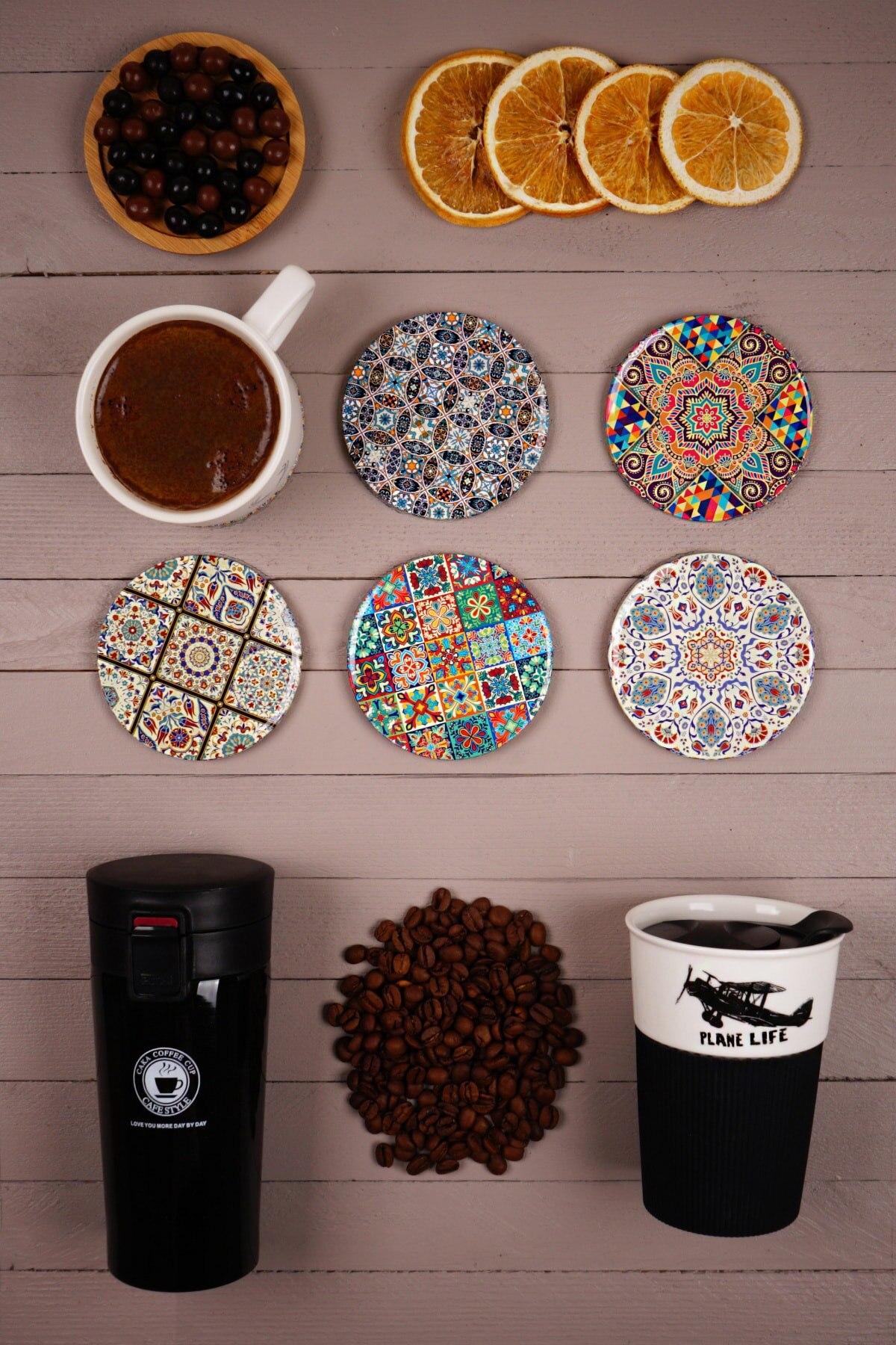 Подставка под чашку в английском стиле, 6 шт., цветная подставка под чашку, нескользящая изоляционная подставка, коврик для чашки, подставка ...