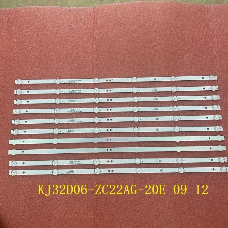 10 قطعة/الوحدة LED قطاع ل 32LH0202 32HH1830 PK-32D16T KJ32D06-ZC22AG-09 12 20E 303KJ320044 KM0320LDCH HTV-32R01-T2C V320BJ6-Q01