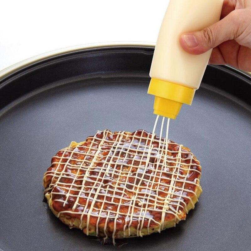 4 ثقوب ضغط زجاجة صلصة كريم النفط المربى الكاتشب كعكة أدوات الديكور للعام الجديد Botella دي السالسا