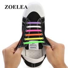 16pcs/lot Silicone Shoelaces Elastic Shoe Laces Special No Tie Shoelace for Men Women Lacing Rubber