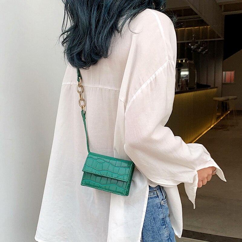 Bolso bandolera de cocodrilo para mujer, bolso bandolera pequeño a la moda para mujer, bolso bandolera de hombro, bolsos de mano para mujer