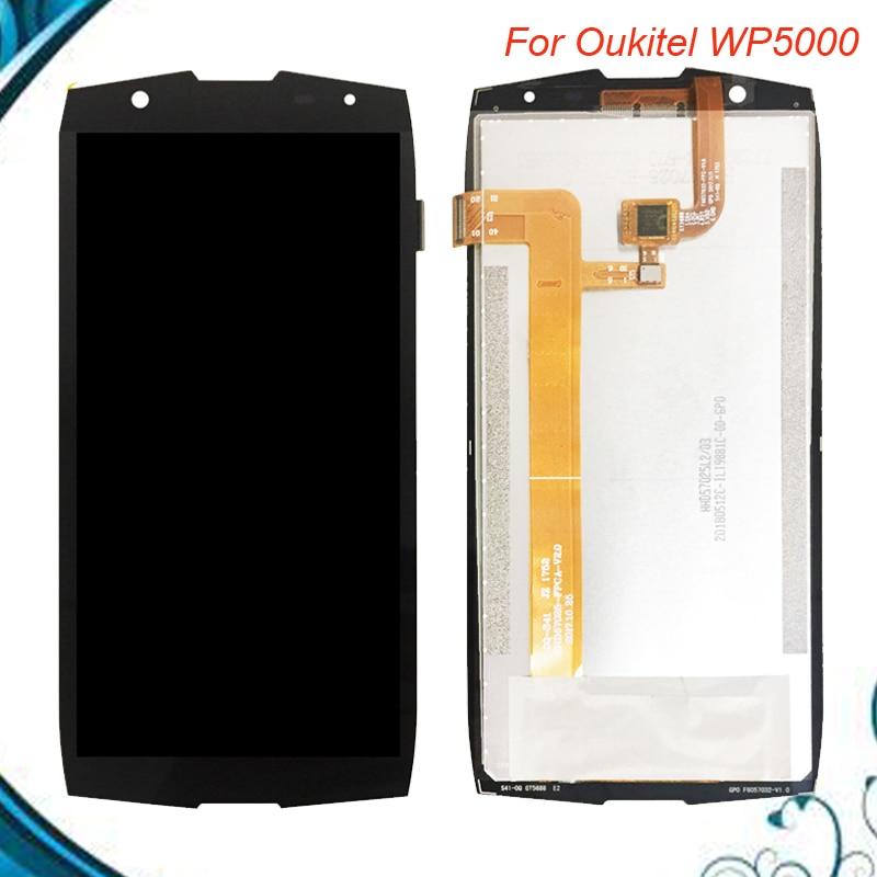 Para Oukitel WP5000 pantalla LCD y digitalizador de pantalla táctil reemplazo probado bien para pantalla LCD Oukitel WP5000 5000