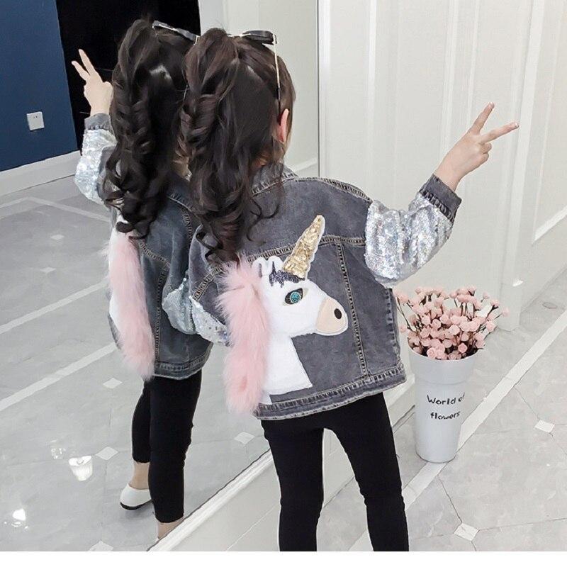 Chaquetas para niñas, ropa de adolescentes con agujeros estilo vaquero, chaquetas bordadas de moda para chicas, abrigos, ropa para niños, chaqueta vaquera para niños