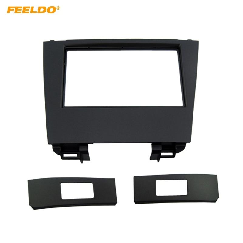 FEELDO Car 2Din Stereo Fascia Frame Plate Adapter For Lexus ES350 2006-2012 CD/DVD Dash Panel Installation Frame Trim Kit #4924