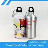 500ml sport bottle diy customized colorful print logo photo for biker hiker bag travel sport team company promotion aluminium