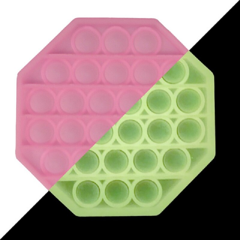 Luminous Glow in Dark Pop It Push Bubble Fidget Toys Stress Relief Toy Antistress PopIt Soft Squishy Adult Kids Gift Anti Stress enlarge