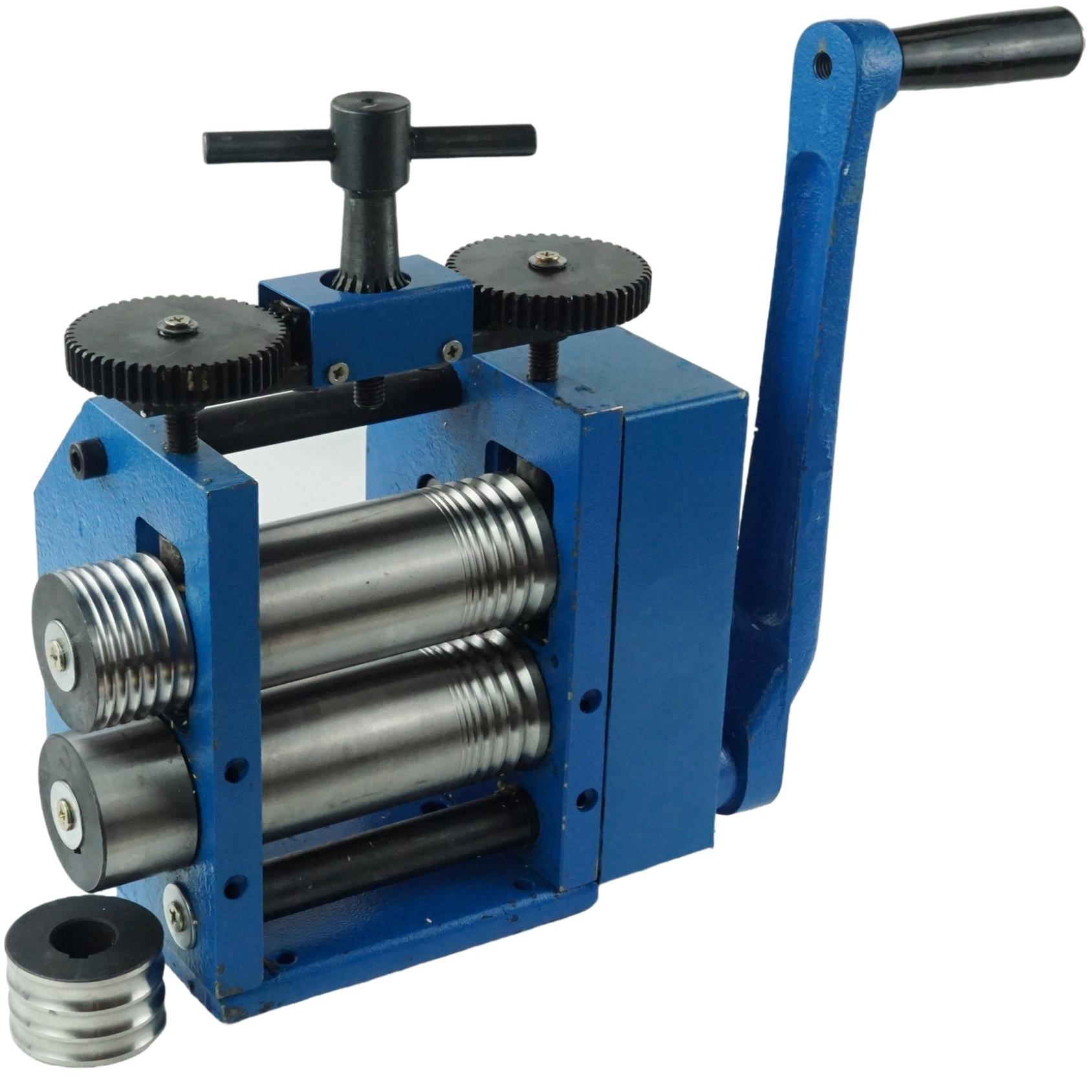 آلة لف المعادن لصناعة المجوهرات دليل الضغط الجولة الضغط شبه دائري خط الضغط الذهب والفضة أدوات معالجة المجوهرات