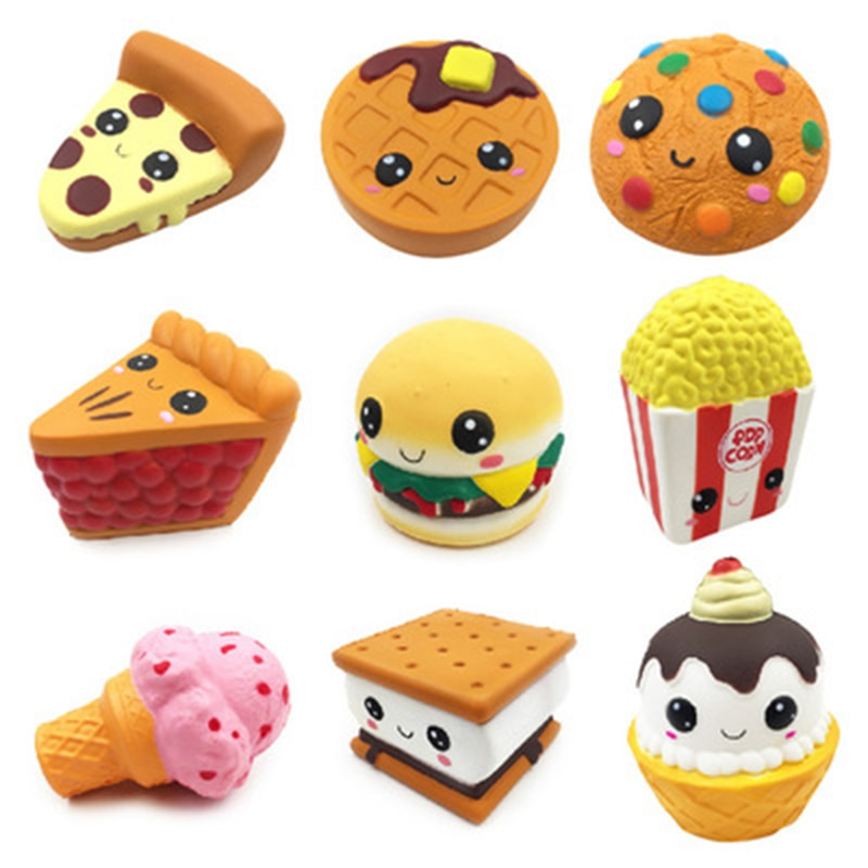Jumbo Chocolate Biscuits Cheese Cute Squishy Slow Rising Soft Squeeze Toy Phone Strap Scented Relieve Stress Fun Toys