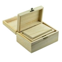 3pcs wood box unfinished wooden jewelry storage case diy craft gadgets gift wooden organizer boxes
