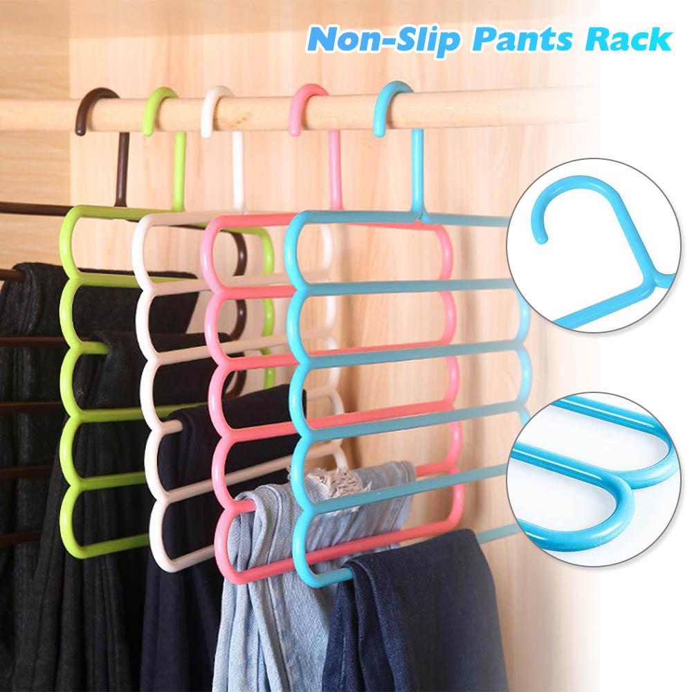 Multi-funcional antideslizante pantalones perchero bufanda corbata Perchero de ropa