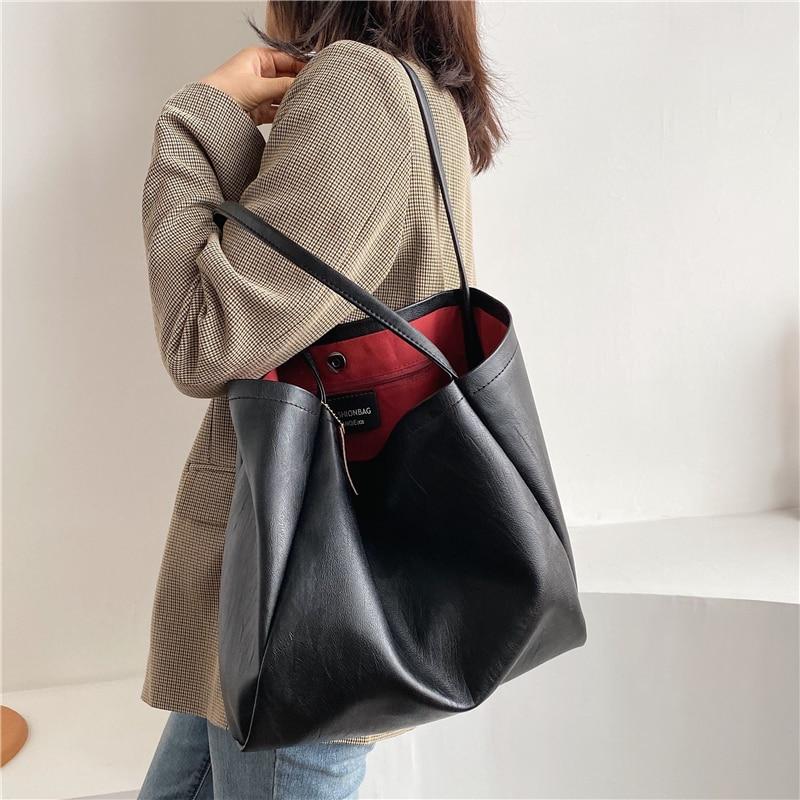 Tamara Big Soft Women HandbagsFashion Leather Bag Large Capacity Female Tote Bags High Quality Ladies Shopper Shoulder Bags
