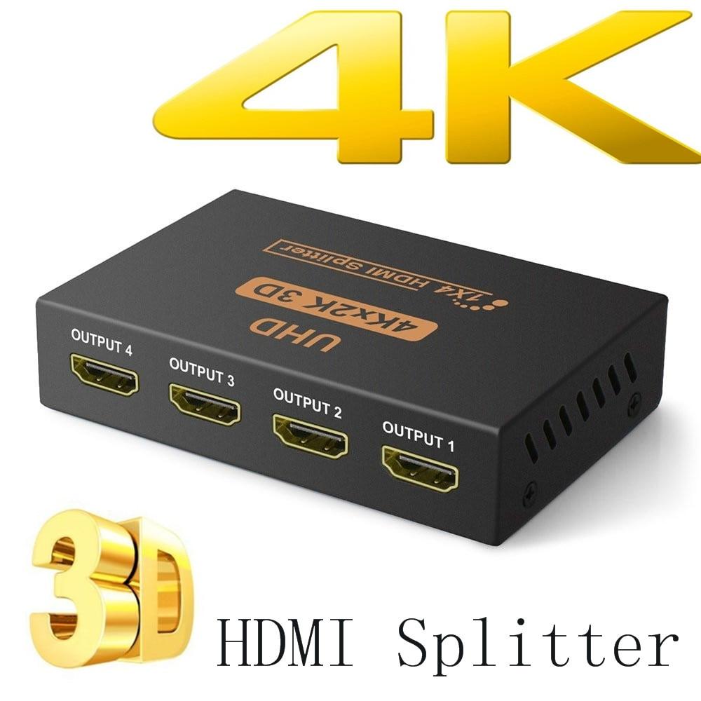 4K HDMI Splitter Full HD 1080p Video HDMI Switch Switcher 1X2 1X4 Dual Display For HDTV DVD PS3 Xbox