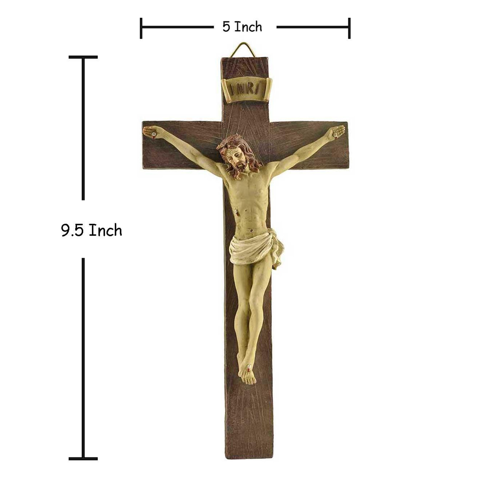 Полимерный распятильник Иисуса Христа на подставке, фигурка Креста для украшения домашней часовни