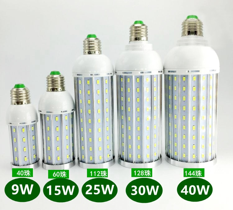 SMD5630 LED Lamp Corn Light E27 9W 15W 25W 30W 40W Bedroom Store Bulb 360 degree Cold|Warm White 110V 220V DHL