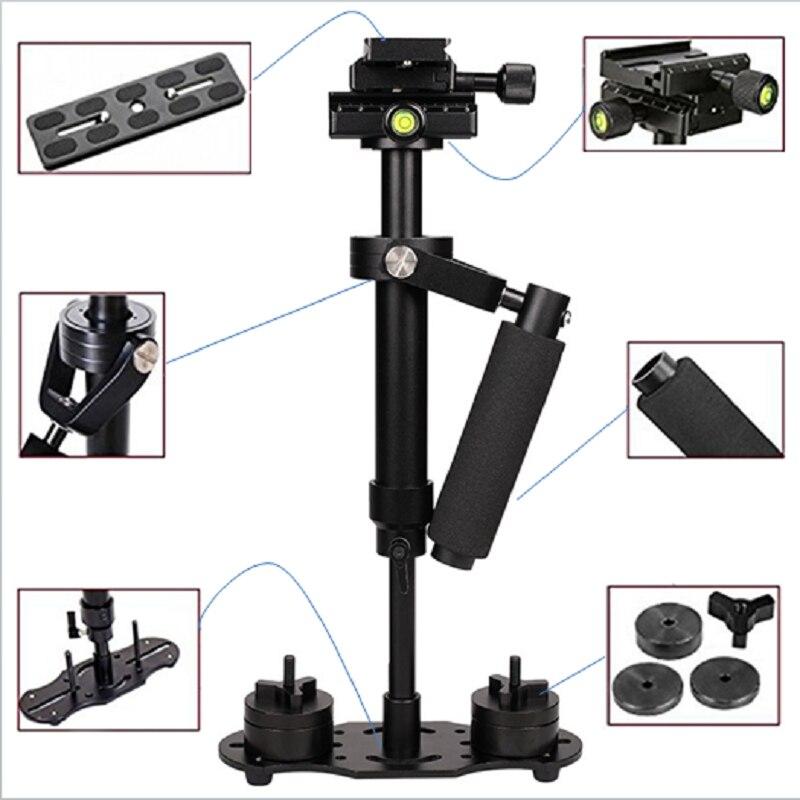 Estabilizador de vídeo portátil de aleación de aluminio ALLOYSEED S40 40cm para Steadycam Steadicam estabilizador para cámara Canon Nikon Sony DSLR