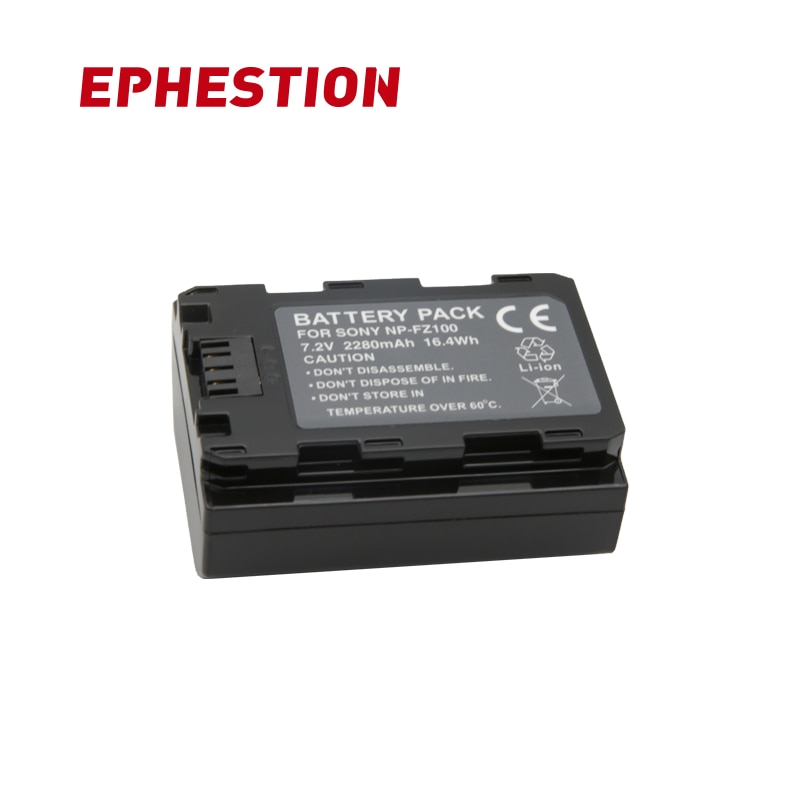 EPHESTION NP-FZ100 NPFZ100 NP FZ100 Li-Ion batería para Sony A9 A7RIII ILCE-9 A7R3 ILCE-7RM3 A7RM3 ILCE-7M3K A7M3K de batería de la cámara