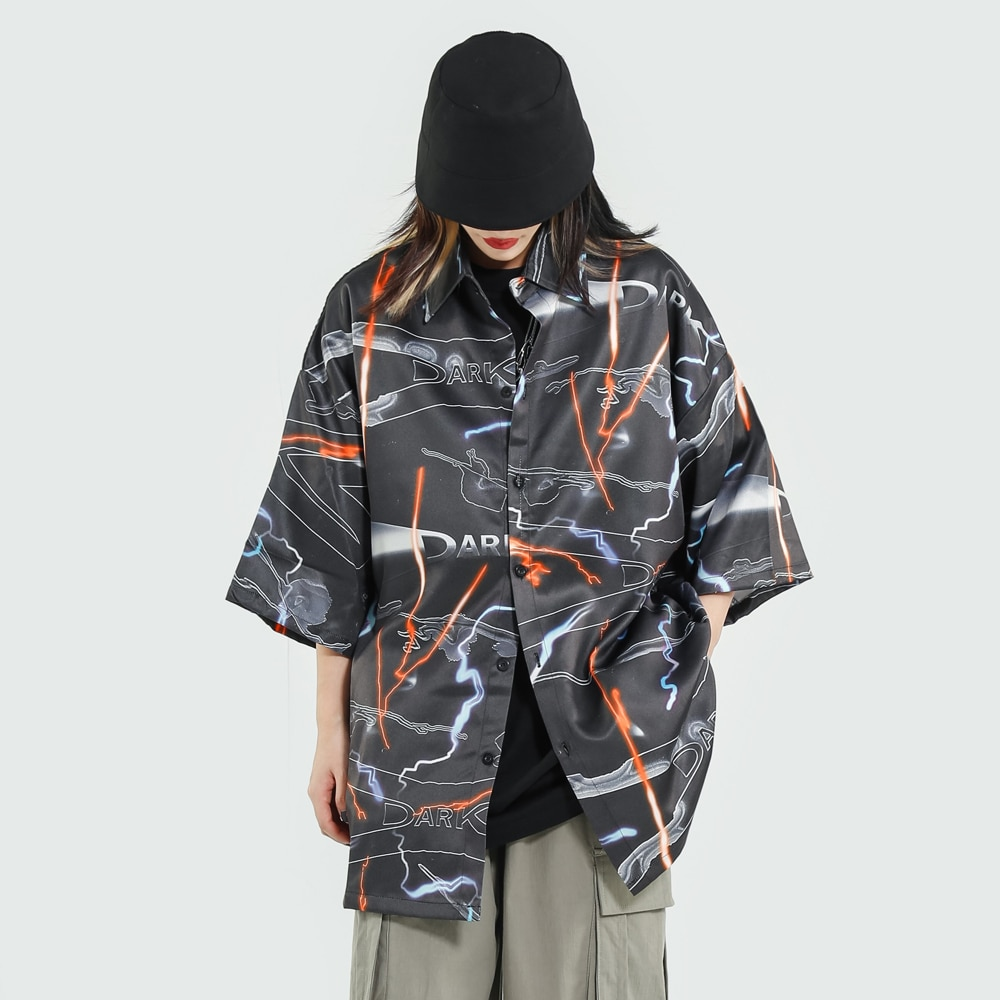 Ropa gótica Graffiti, Tops de verano de talla grande, blusa, ropa de calle de gran tamaño para mujer, camiseta de Aloha hawaiana gótica, moda 2020