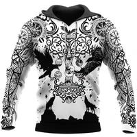 new fashion mens hoodies beautiful vikings tattoo 3d full printed sweatshirt unisex zip casual jacket dy91