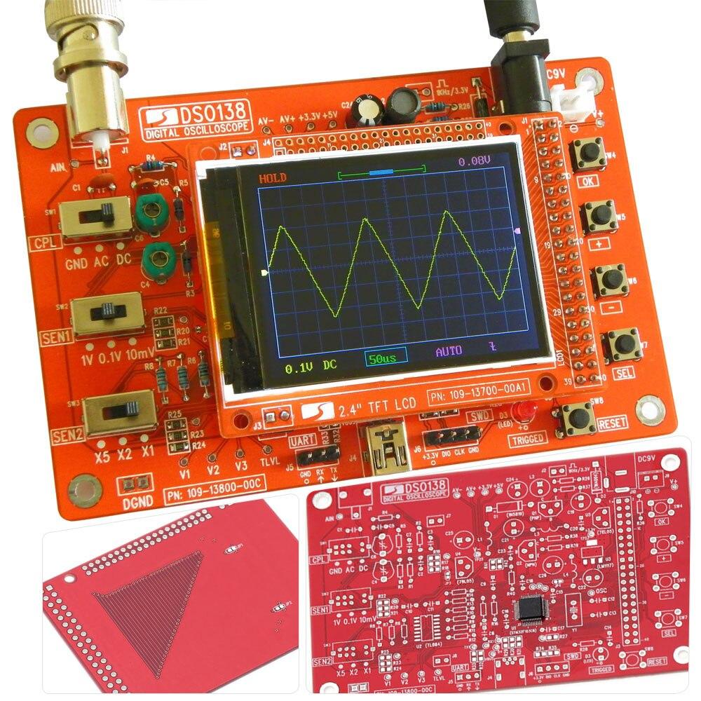 Frete grátis Osciloscópio Digital DIY Peças do Kit DIY Osciloscópio Digital Pocket-size Handheld Elétrico Eletrônico 1Msps