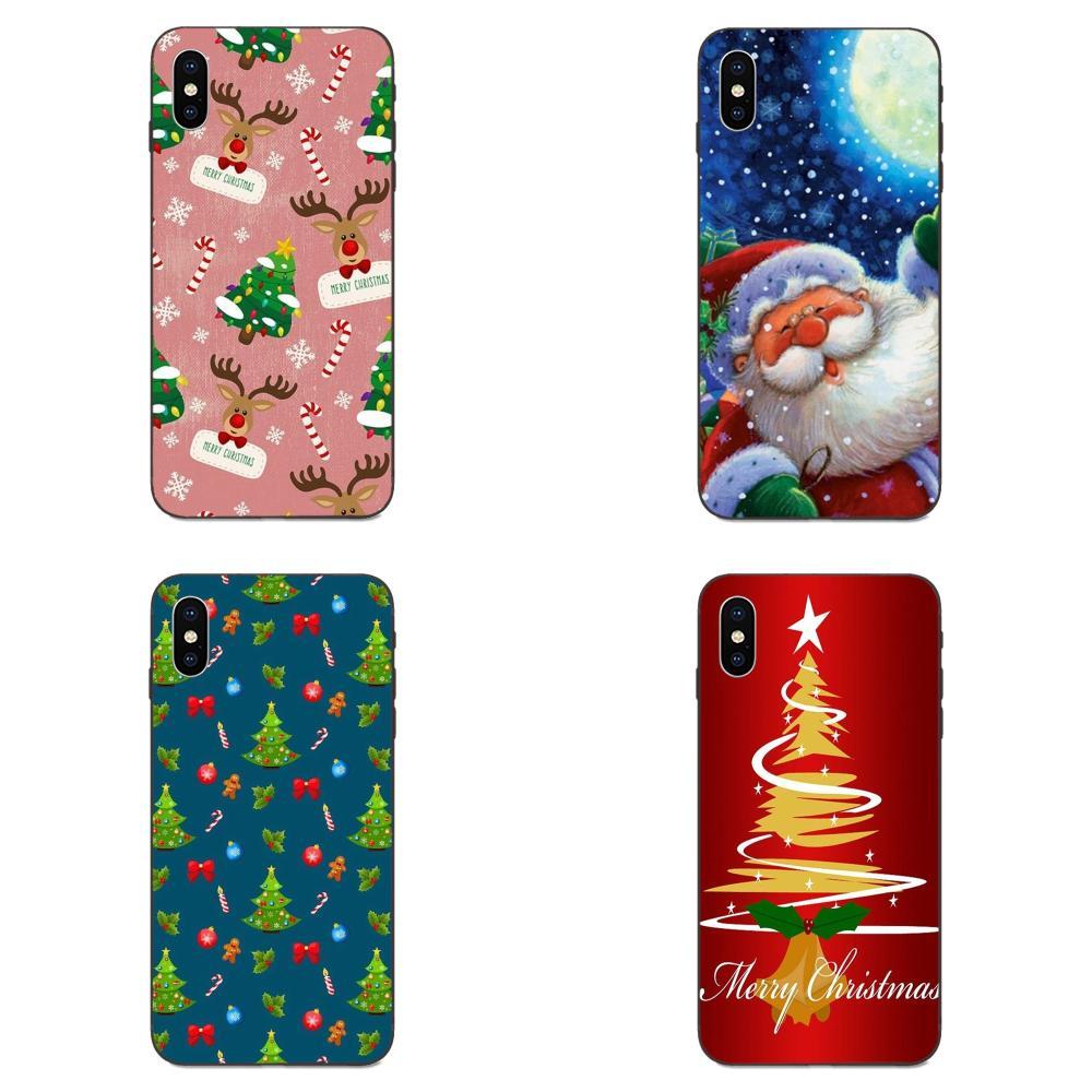 Merry Christmas Tree Deco Best Gift For Huawei Mate 9 10 20 P8 P9 P10 P20 P30 Lite Mini Play Pro P smart Plus Z 2017 2019