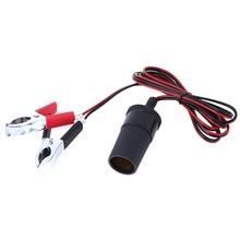 12V 150cm Auto Zigarette Leichter Steckdose AdapterBattery zu Terminal Clip-auf Auto Notfall Batery Linie Zigarette licht Power