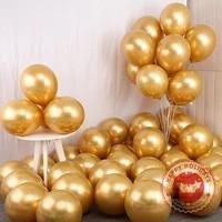 metal glod pearl latex balloons wedding decoration 12inch birthday party happy new year chrome metallic colors round ballon