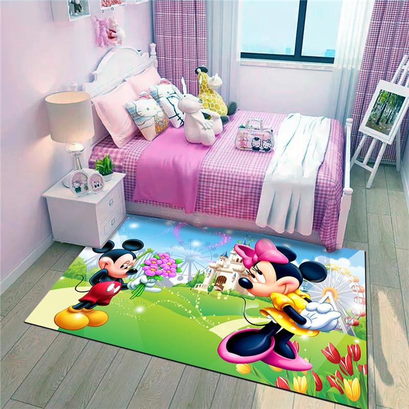 Mickey and Minnie Waterproof Door Mat Cartoon  Mat Cute Kitchen Rugs Bedroom Carpets Decorative Stair Mats Home Decor Crafts door mat sweet heart shape cute home decor floor mat4