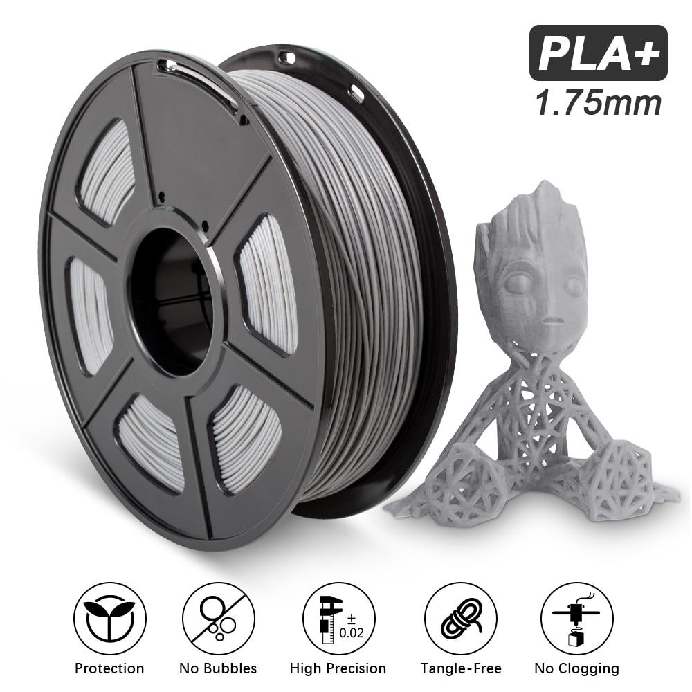 Filamento PLA Plus, 1kg, 1,75mm, dimensiones de precisión +/-0,02 330m/rollo PLA +...