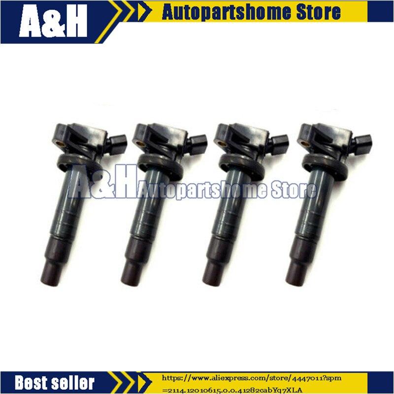 4 Uds envío gratis bobina de encendido para Toyota Celica Corolla Matrix MR2 Spyder 90919-02239, 9091902239, 90919-02262, 90919-12002