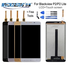 "WEICHENG ل Blackview P2 شاشة الكريستال السائل + TP مجموعة المحولات الرقمية لشاشة تعمل بلمس 5.5 ""اختبار LCD لوحة مرقمة ل P2 Lite"