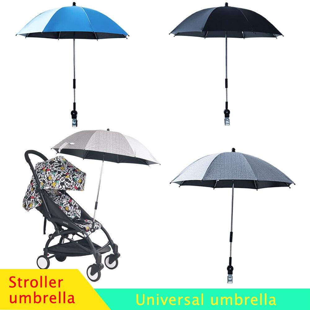 Sombrilla de cochecito de bebé Anti-UV Universal, cubierta 360, parasol ajustable, accesorios para cochecito