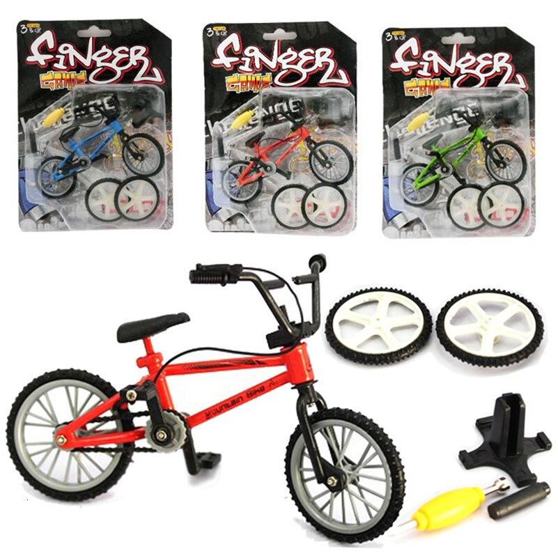 Mini Finger BMX Kit de bicicleta Flare Trix bicis de dedo Juguetes Accesorios herramienta BMX bicicleta modelo Tech Deck Gadgets novedad mordaza Juguetes