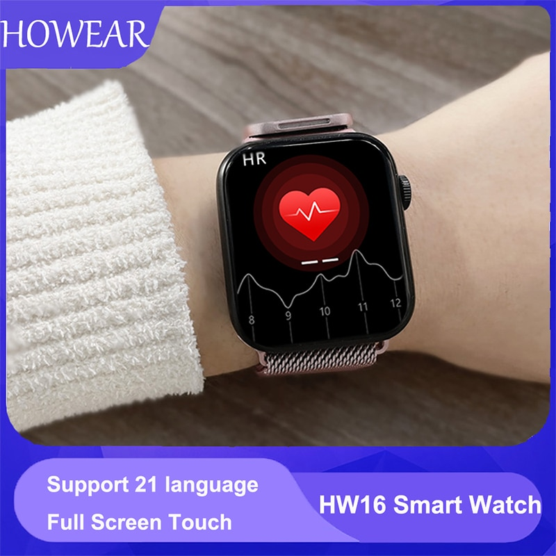 Original HW16 44mm Smart Watch Series6 Men Bluetooth Call 320*385 Screen Custom Picture Smartwatch Women 2021 pk FK88 IWO13 W46