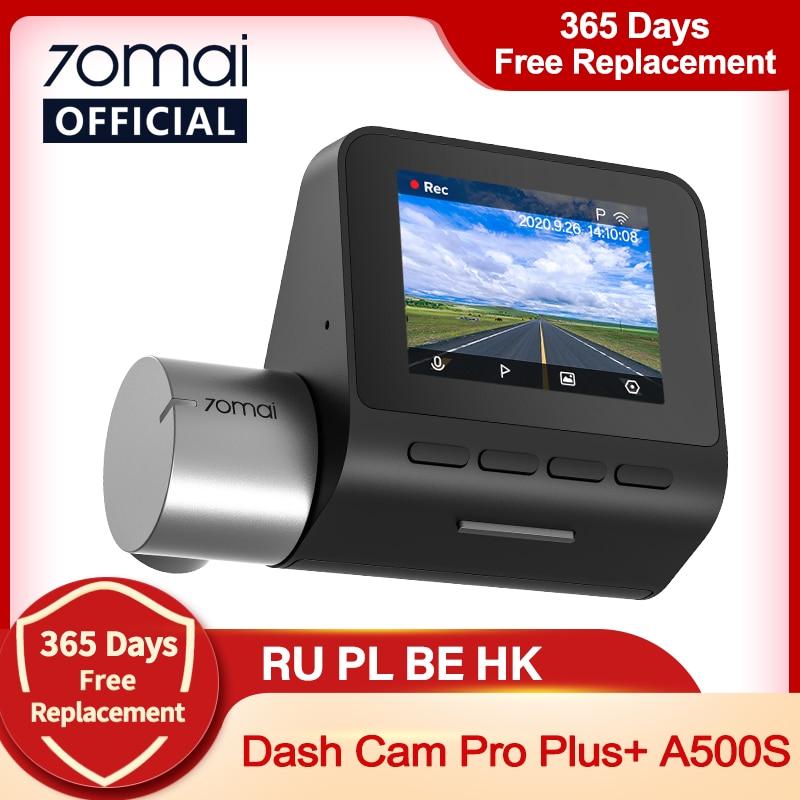 70mai Dash Cam Pro English Pro Plus 1944P 70MAI Car DVR Camera GPS ADAS 140FOV 24H Parking Monitor 70mai Pro Plus A500S