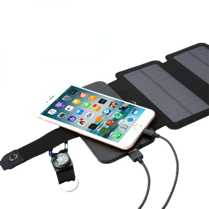 xionel etfe 10w folding solar panel charger with dual usb ports for all 5v digital cell phones emergency camping Outdoor 5V 2.1a 20W power folding portable solar cell charger USB output device solar panel for mobile phone charging
