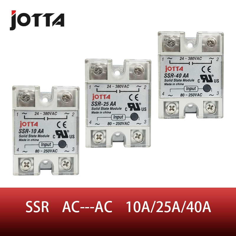 AliExpress - SSR -10AA  25AA 40AA  AC Control AC SSR White Shell Single Phase Solid State Relay With Plastic Cover