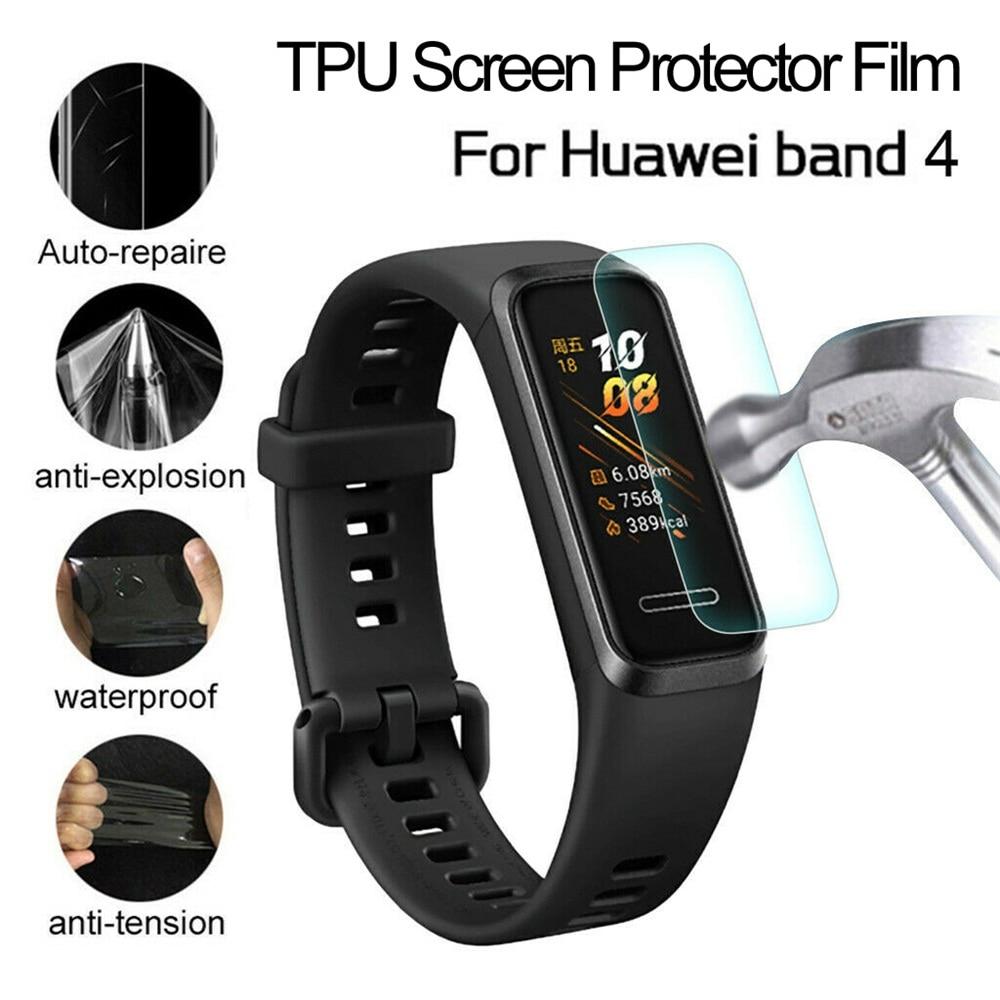 Защитная пленка для экрана Huawei Band 4, наручные Ремешки для умных часов, Прозрачная мягкая Гидрогелевая защитная пленка из ТПУ, полная защита Смарт-аксессуары      АлиЭкспресс