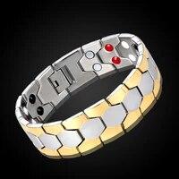 new healing magnetic 316l titanium steel bracelet 4 health care elementsmagnetic fir germanium with for men women hand chain