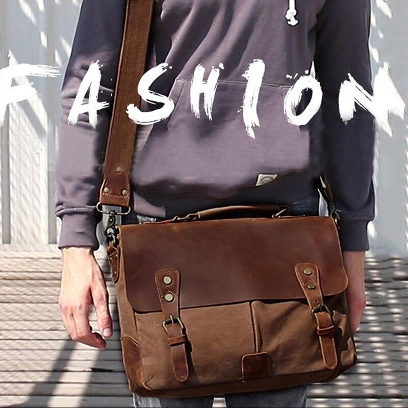 Bolso Retro para hombre, maletín portátil para mujer, bolso de viaje de lona para cartero, bolso para IPAD, teléfono, cuaderno, almacenamiento de llaves, bolsa de accesorios para hombro