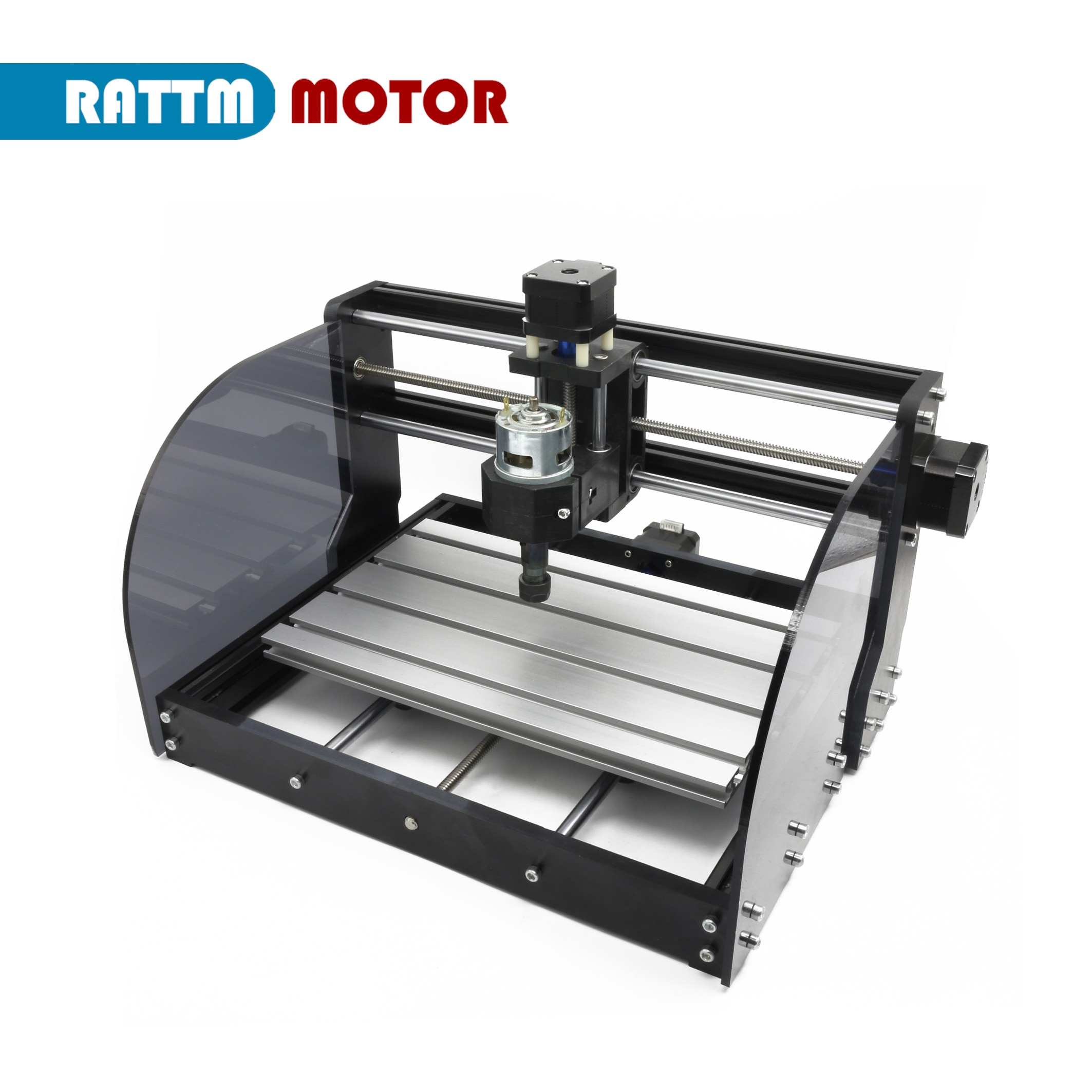 DIY user Mini CNC mill Laser engraving Machine 3 Axis 3018 Pro Max GRBL Control with ER11 collet and MPG off line Controller enlarge