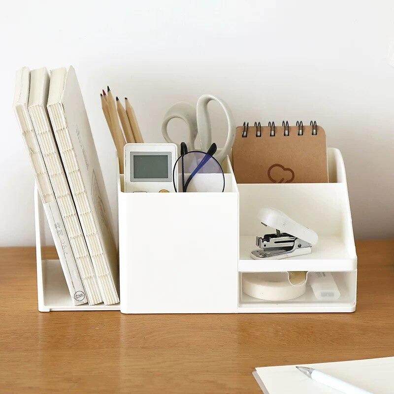 Многофункциональный настольный держатель для ручек 2021 Sharkbang ABS, офисный школьный чехол для хранения, пластиковая коробка, Органайзер