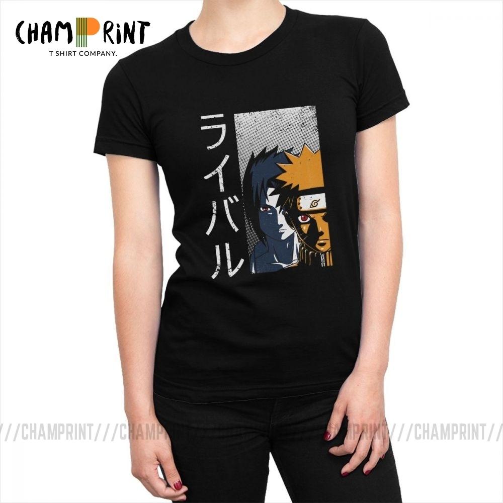 Camiseta de rival para mujer, camisetas de Naruto, camisetas Akatsuki Pein de Japón, ropa de calle de Anime Harajuku Chic, ropa gráfica para mujer
