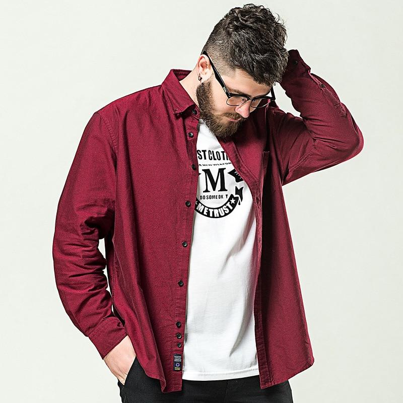 XL-8XL الربيع قمصان طويلة الأكمام للرجال المعتاد القطن الأعمال قميص غير رسمي حجم كبير فستان الرجال قميص سترة بلايز WW5010