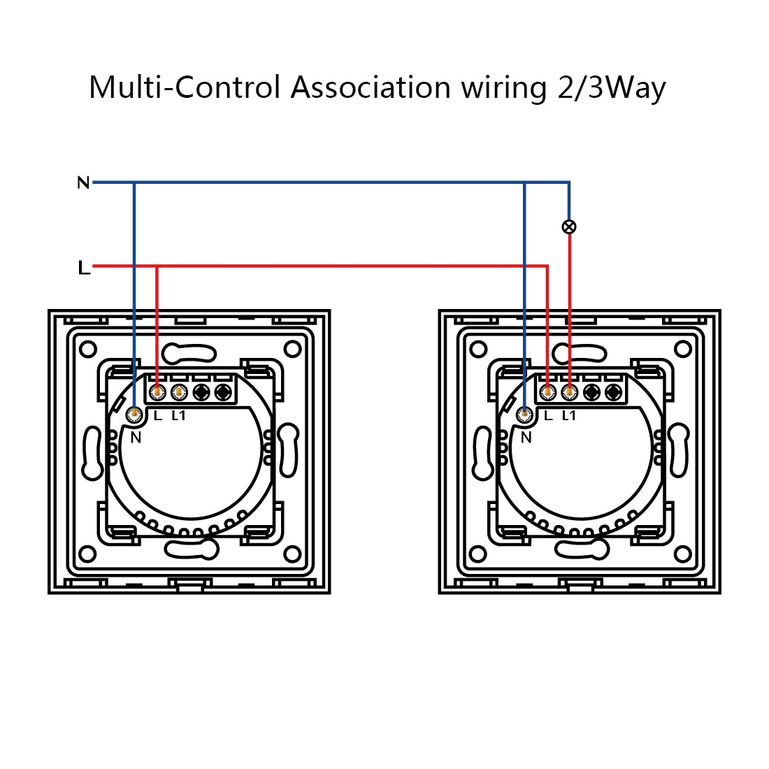 BSEED 3Gang 1/2/3 way Wifi Control Light Switch Touch Sensor Switch Wall Switch Crystal Class Panel Smart Switch Google Alexa