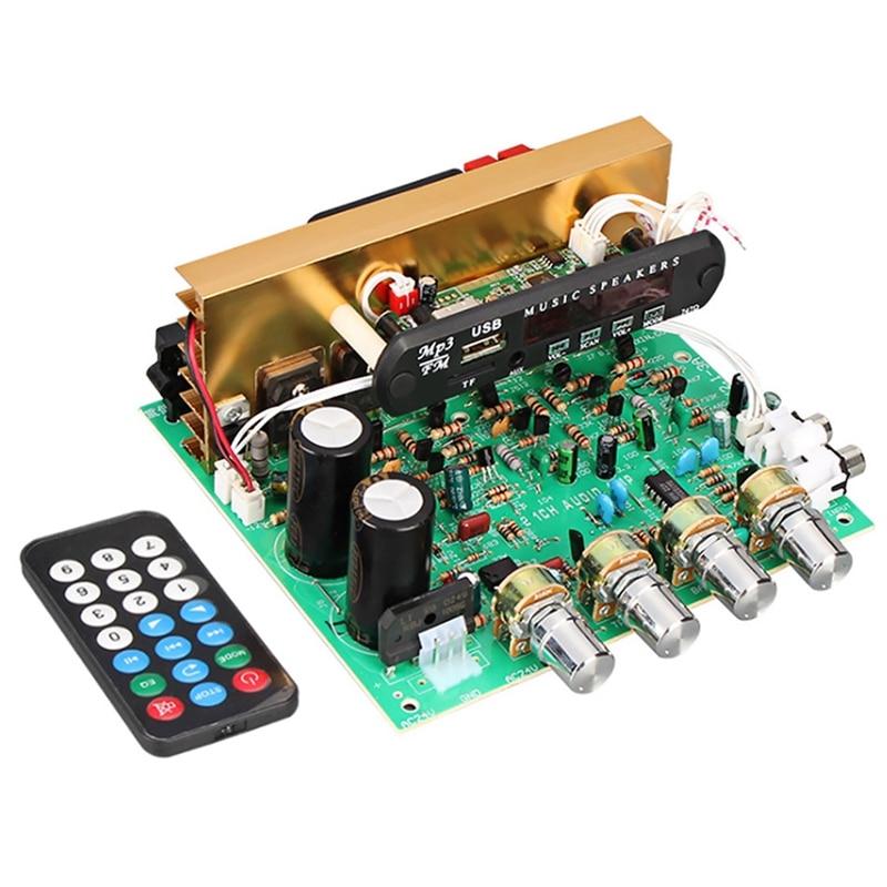 Bluetooth Amplificador Junta 80W 2,1 canal Subwoofer Amplificador tarjeta de Audio con...