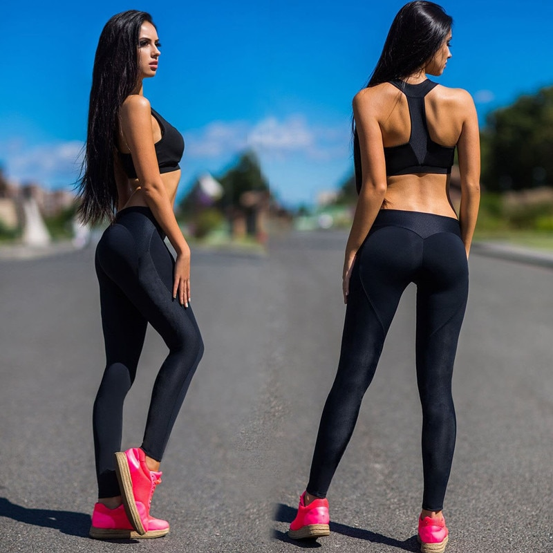 Sexy Push Up Leggings Sport Women Fitness Gym Clothing Work Out Black Jeggings Pants Legins Activewear Sportleggings Leggins
