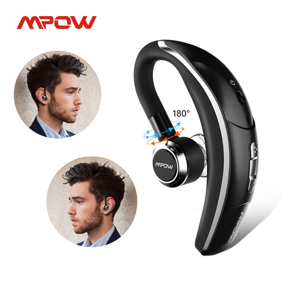 Mpow BH028 اللاسلكية سيارة واحدة سماعة المحمولة يدوي بلوتوث 4.1 180 دوران سماعات الأذن سماعات مع ميكروفون ل هاتف محمول