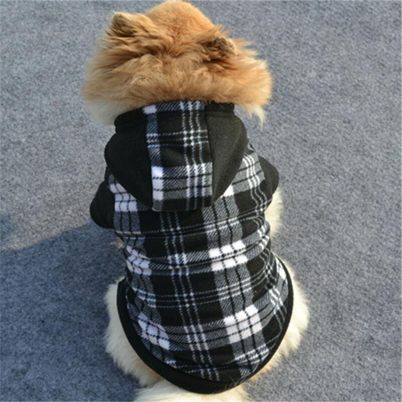 Winter Pet Hoodies for Small Medium Dogs Soft Fleece Puppy Clothes Coat Sweatshirt Dog Outfits Pet Bulldog Pug Hoodies Clothes